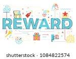 reward word lettering... | Shutterstock .eps vector #1084822574
