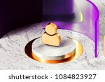 golden user icon with marble... | Shutterstock . vector #1084823927