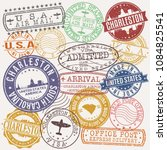 charleston south carolina stamp ... | Shutterstock .eps vector #1084825541