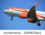 Small photo of Amsterdam the Netherlands - May 4th 2018: G-EZOM easyJet Airbus A320-200 takeoff from Polderbaan runway, Amsterdam Airport Schiphol