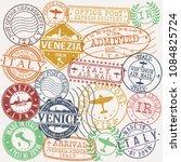 venice italy stamp vector art... | Shutterstock .eps vector #1084825724