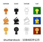 gold pistol  silver prize for...   Shutterstock .eps vector #1084839125