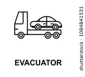 evacuator icon. element of car... | Shutterstock .eps vector #1084841531