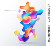 abstract fluid colorful bubbles ... | Shutterstock .eps vector #1084860377