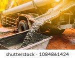 industry concept. concrete... | Shutterstock . vector #1084861424