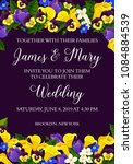 wedding party invitation card... | Shutterstock .eps vector #1084884539