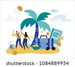 travel vacation  vector... | Shutterstock .eps vector #1084889954