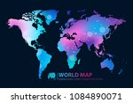 modern digital world  map... | Shutterstock .eps vector #1084890071