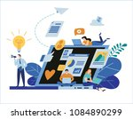 engaging content marketing....   Shutterstock .eps vector #1084890299
