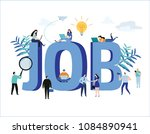 job search  recruitment  hiring ... | Shutterstock .eps vector #1084890941