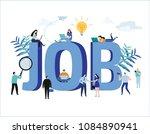 job search  recruitment  hiring ... | Shutterstock .eps vector #1084890941