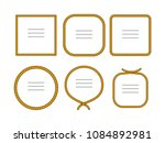 natural brown twine rope frames ... | Shutterstock .eps vector #1084892981