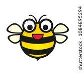 silhouette vector simple bee... | Shutterstock .eps vector #1084895294