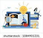 online training courses vector... | Shutterstock .eps vector #1084901231