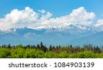 view of the caucasus mountains | Shutterstock . vector #1084903139