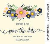 beautiful floral design. vector ...   Shutterstock .eps vector #1084903505