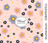 beautiful floral design. vector ...   Shutterstock .eps vector #1084903511