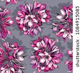 seamless floral pattern. pink... | Shutterstock .eps vector #1084915085