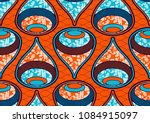 textile fashion african print... | Shutterstock .eps vector #1084915097