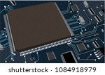 vector eps10.circuit board.... | Shutterstock .eps vector #1084918979