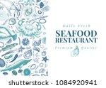 seafood vector illustration.... | Shutterstock .eps vector #1084920941