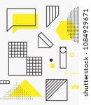 universal trend poster. linear... | Shutterstock .eps vector #1084929671