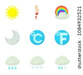 weather interface icons set....