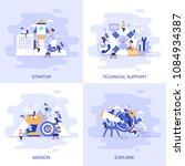 modern flat concept web banner... | Shutterstock .eps vector #1084934387
