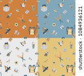 school seamless pattern. four... | Shutterstock .eps vector #1084936121
