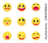emoticons icons set. cartoon... | Shutterstock . vector #1084938824