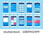 ux ui flowchart. mock ups ... | Shutterstock .eps vector #1084942499