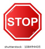 vector illustration of stop sign | Shutterstock .eps vector #108494435
