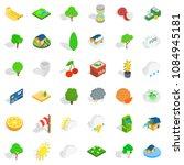 vital icons set. isometric... | Shutterstock . vector #1084945181