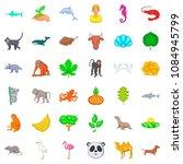 vital icons set. cartoon style... | Shutterstock . vector #1084945799