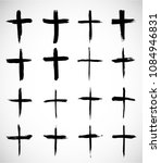grunge religion cross . black... | Shutterstock .eps vector #1084946831