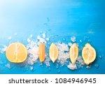 Orange and lemon on the blue...