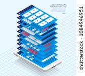 ux ui flowchart. mock ups ... | Shutterstock .eps vector #1084946951