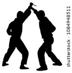 self defense battle vector... | Shutterstock .eps vector #1084948511
