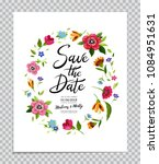 save the date card. wedding... | Shutterstock .eps vector #1084951631