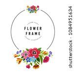 round flower frame. template... | Shutterstock .eps vector #1084951634