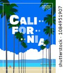 california poster with palm... | Shutterstock .eps vector #1084951907