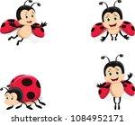 cute ladybug cartoon set | Shutterstock .eps vector #1084952171