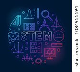 stem round creative colored... | Shutterstock .eps vector #1084955594