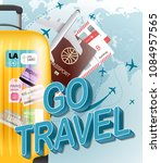 go travel concept. vector... | Shutterstock .eps vector #1084957565