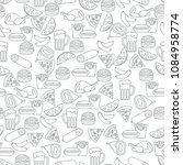 seamless pattern with different ... | Shutterstock .eps vector #1084958774