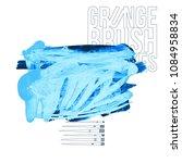 blue brush stroke and texture....   Shutterstock .eps vector #1084958834