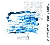 blue brush stroke and texture....   Shutterstock .eps vector #1084958867