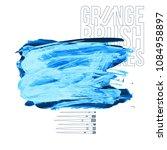 blue brush stroke and texture....   Shutterstock .eps vector #1084958897