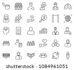 thin line icon set   business... | Shutterstock .eps vector #1084961051
