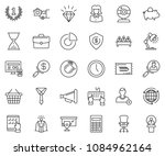 thin line icon set   circle... | Shutterstock .eps vector #1084962164